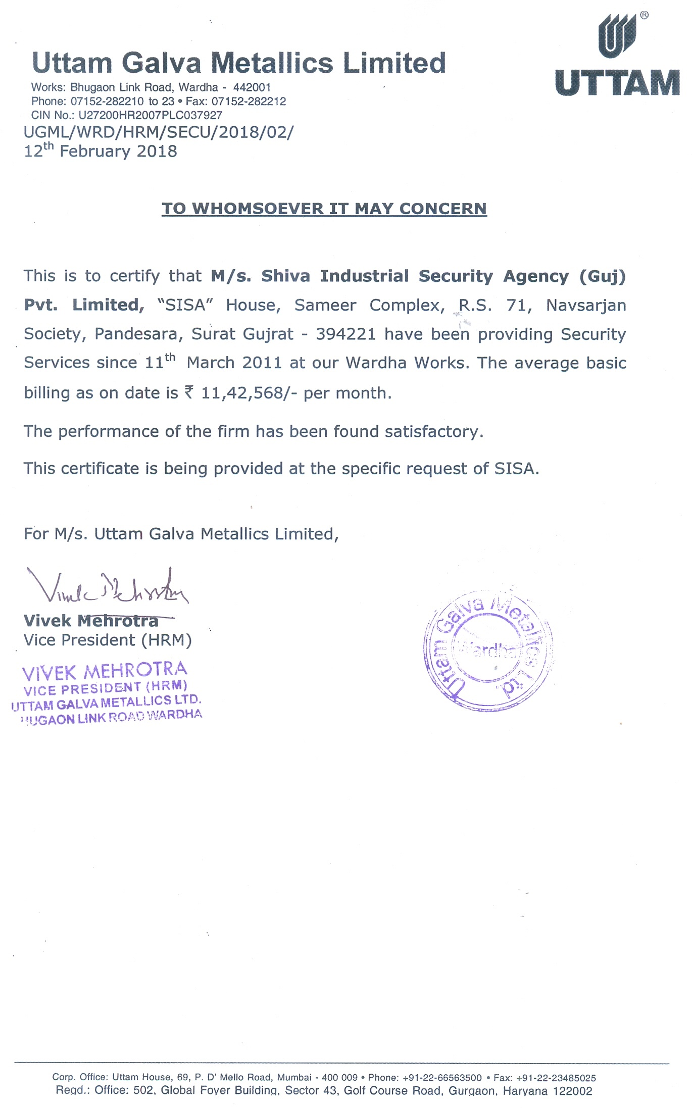 SISA SECURITY - EVER ALERT - BORN TO PROTECT